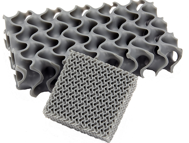 3D-printed lattice structure
