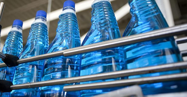 plastic bottling line