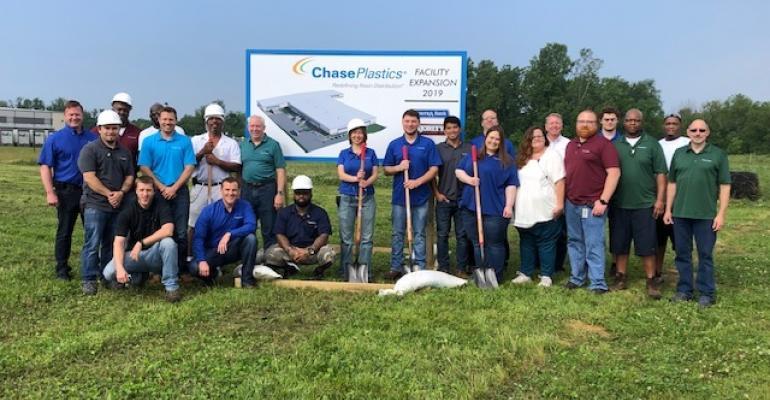 Groundbreaking on Chase Plastics expansion