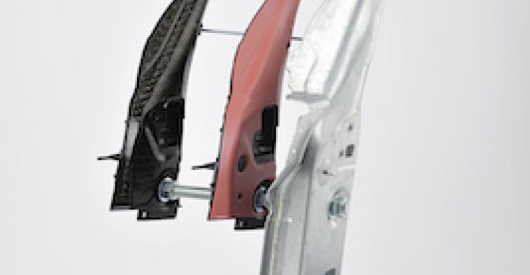 Composite insert acts as structural reinforcement for Porsche A-pillars