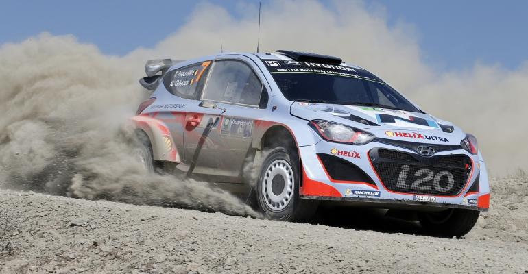 Expanded PP furnishes side impact protection in Korean rally car