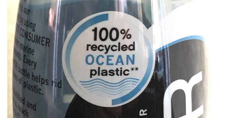 ZenWTR bottle label ocean content close up