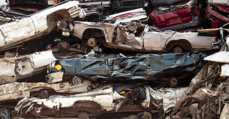 Car junkyard by Edward Blake