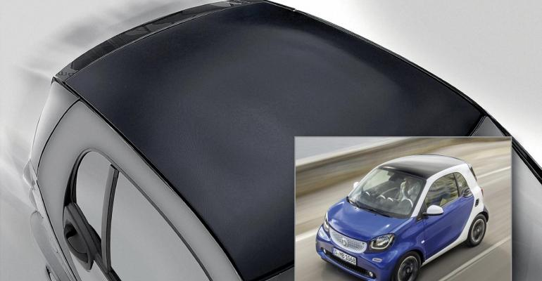 Honeycomb structure car roof boasts class-A finish