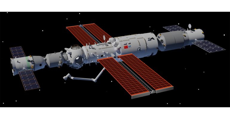Rendering of Tiangong Space Station