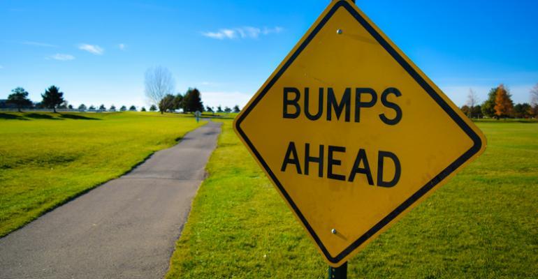 bumps ahead road sign