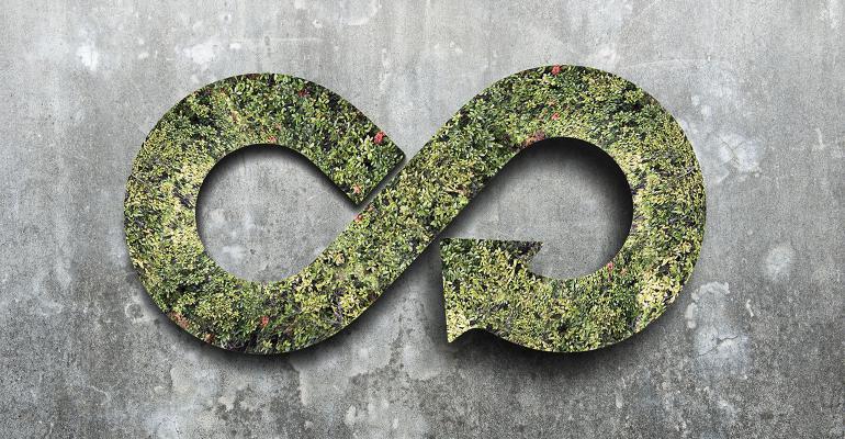symbol of circular green economy