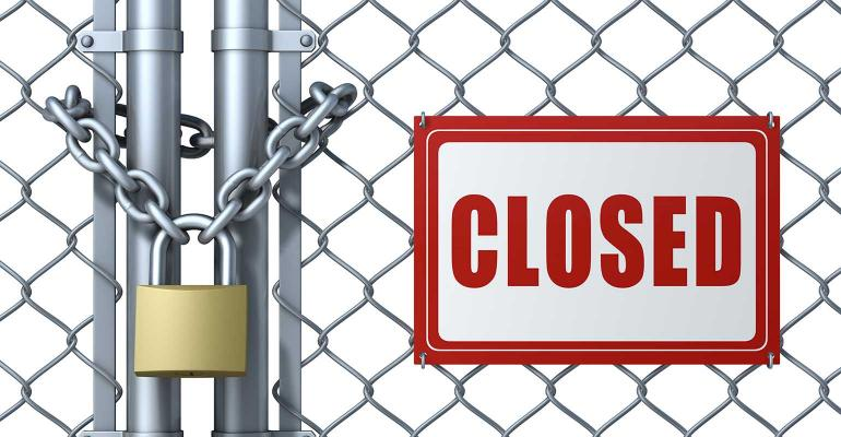 closed gate with lock