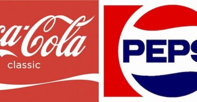 Coke and Pepsi logos