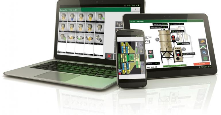 Web-enabled auxiliary equipment unchains plastics processors