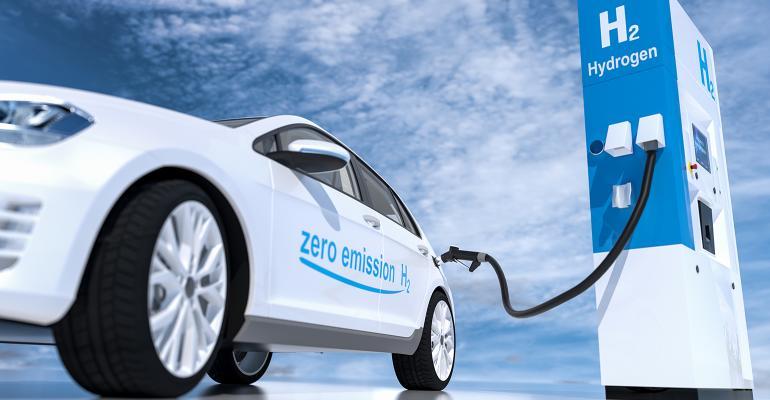 hydrogen car and filling station