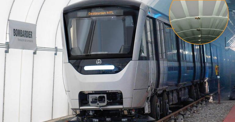 Melamine foam saves weight, shields sound, in Montreal subway trains