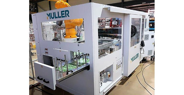 Muller IML system for 5-gal. pails