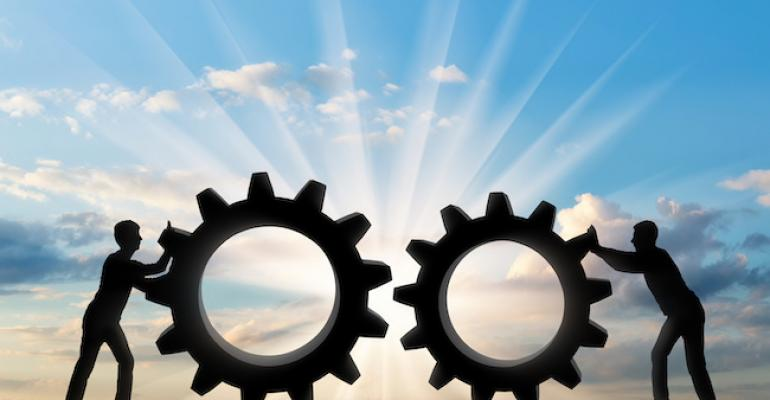 Gears showing partnership