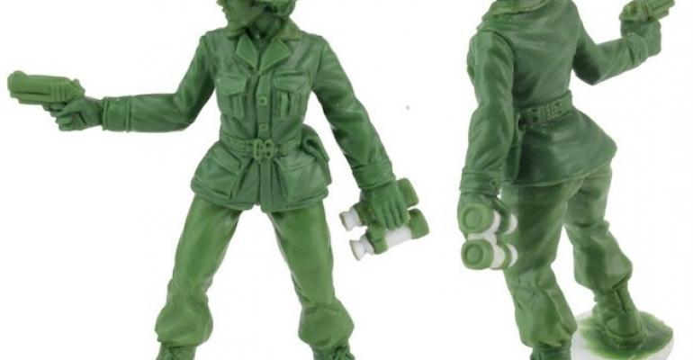 Plastic Army Women model from BMC Toys