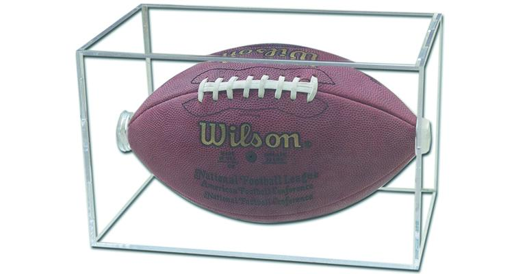 football in protective case