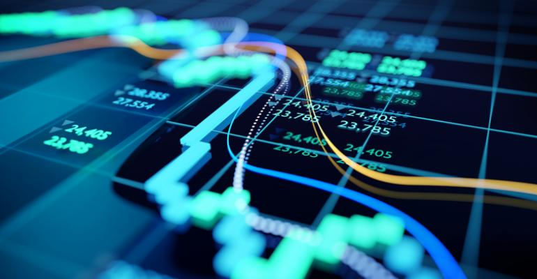 declining stock market graphic