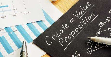 value proposition on chalkboard