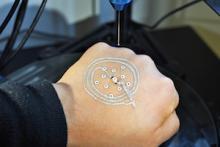 McAlpine 3d-printed electronic tattoo