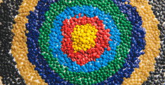 target composed of plastic resins